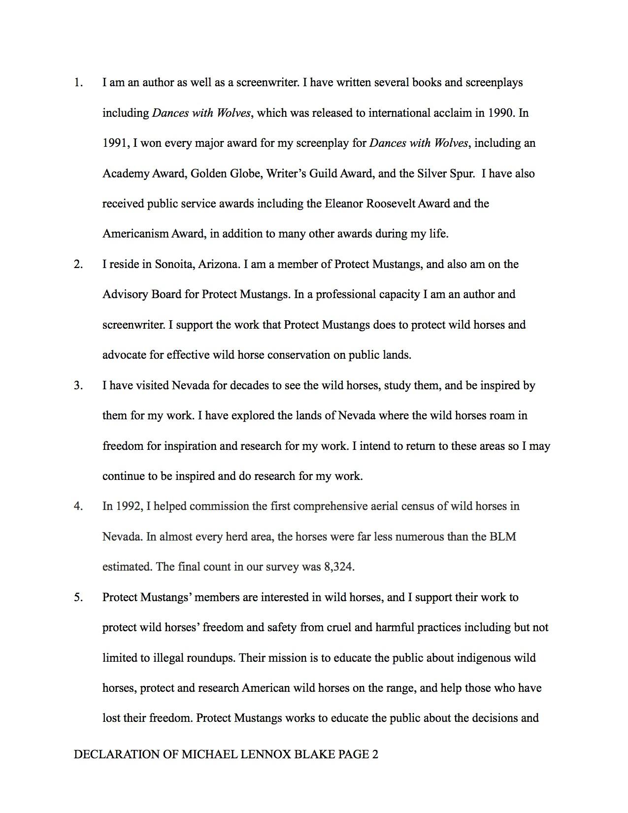 PM Michel Blake declaration Fort McDermitt 2013 - 2